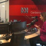 Speaking  at ABC radio